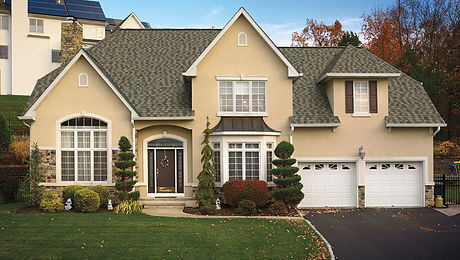 Example of a GAF Timberline American Harvest shingle roof.